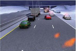 forensic animation sequence #2 of vehicle path by Illinois State Police